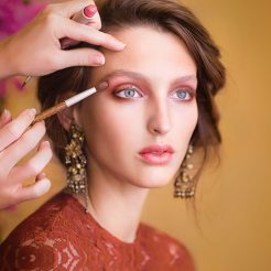 Makeup services at Salon Aspire in Wichita, Kansas
